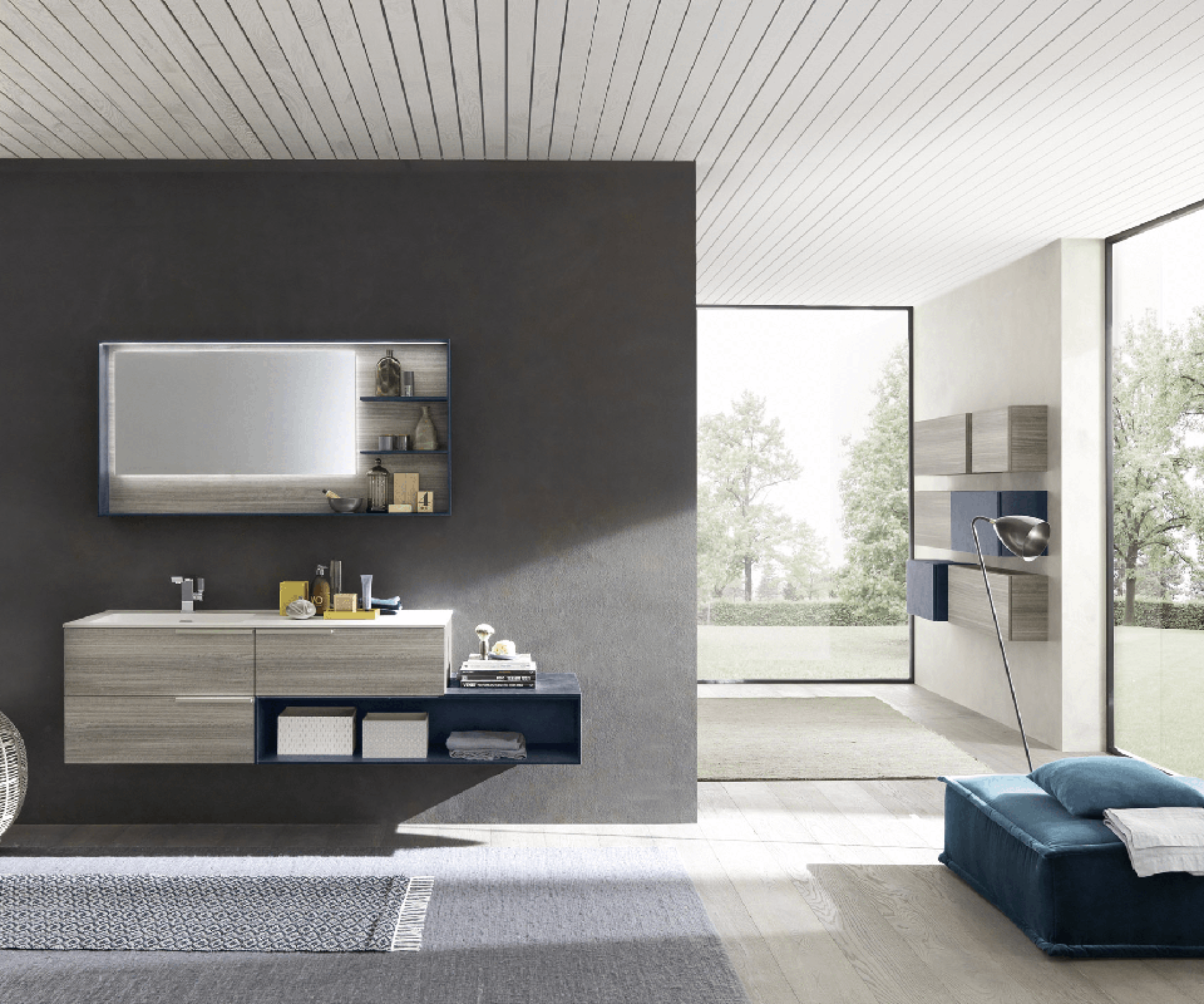 Arredo Bagno Blu Italy Vittuone : Arredo bagno blu il bagno delle ragazze con lavabo doppio opus di